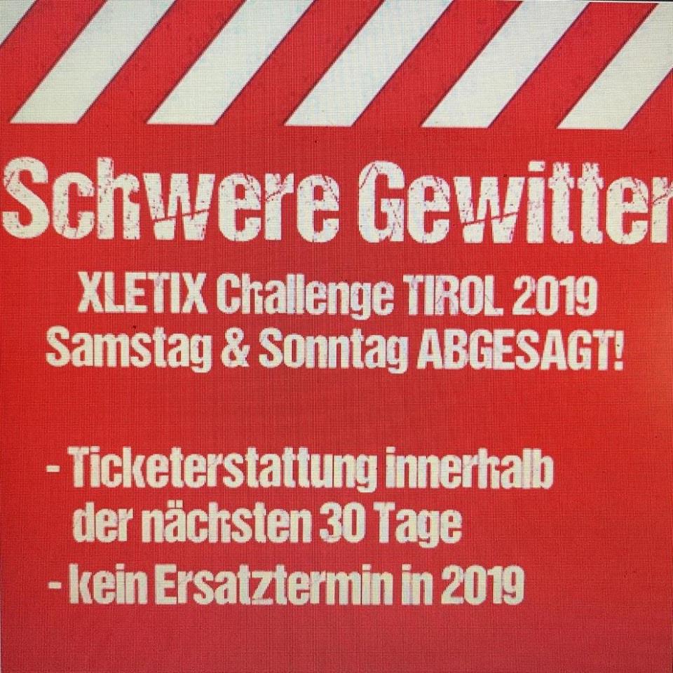 Abgesagt - XLETIX Tirol 2019