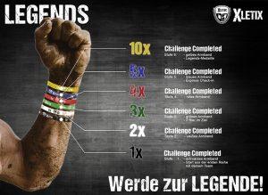 XLETIC Legends Armbänder & Medaille