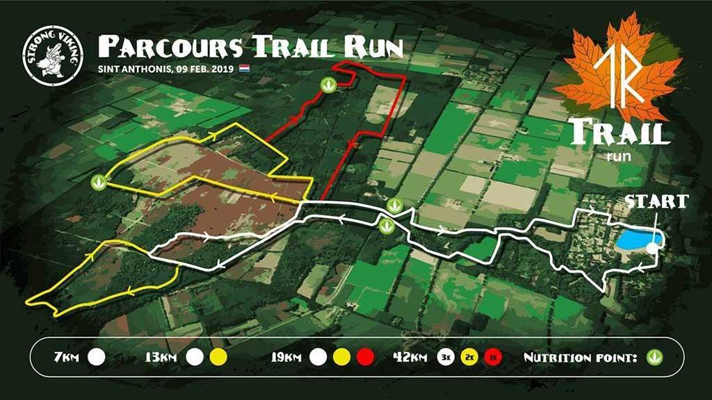 Streckenplan S<trong Viking Trail Run 2019