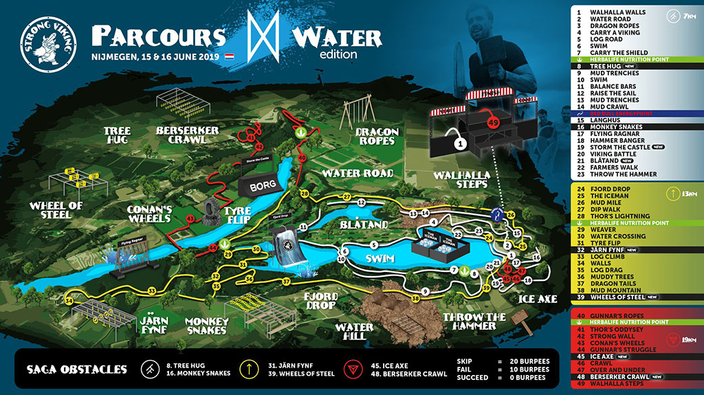 Streckenplan Strong Viking WaterEdition Nijmegen 2019