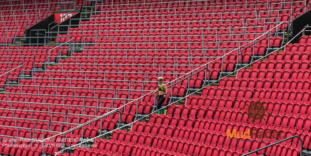 Spartan Race Stadion Amsterdam 2019 - Treppen