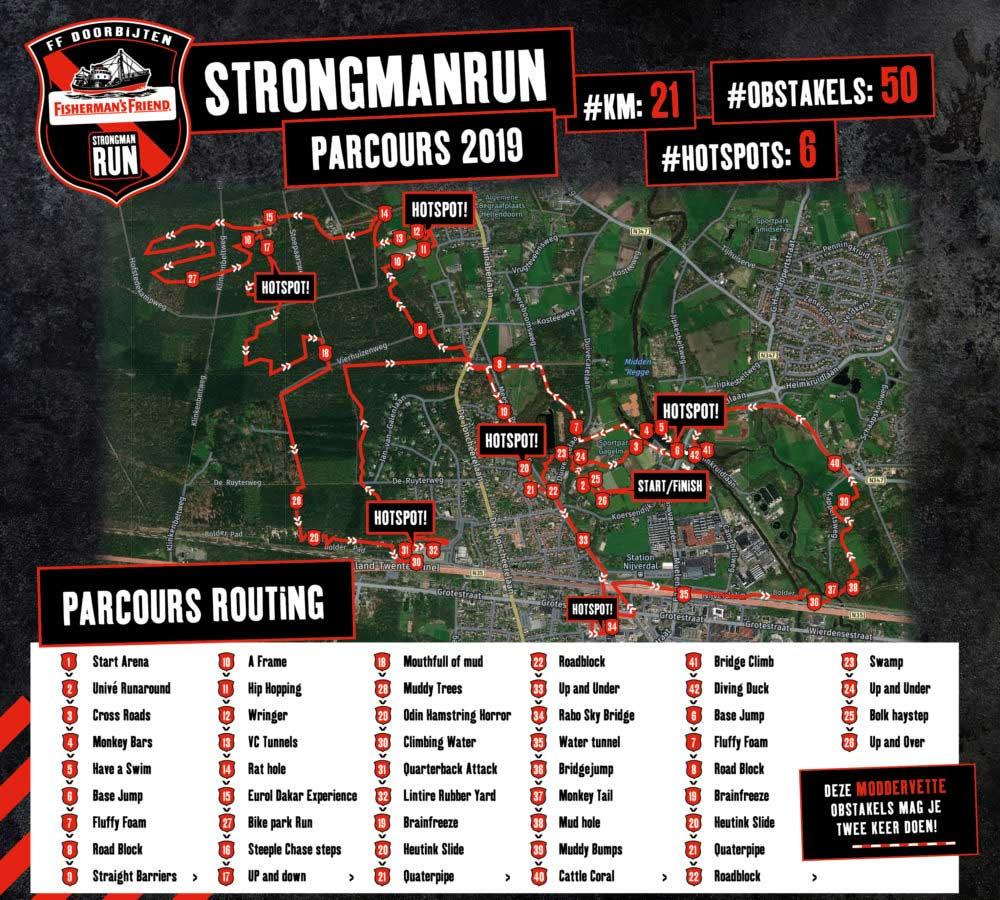 Streckenplan Strongmanrun Hellendoorn 2019 [NL]