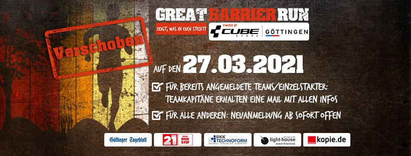 Verschiebung Great Barrier Run Göttingen 2020