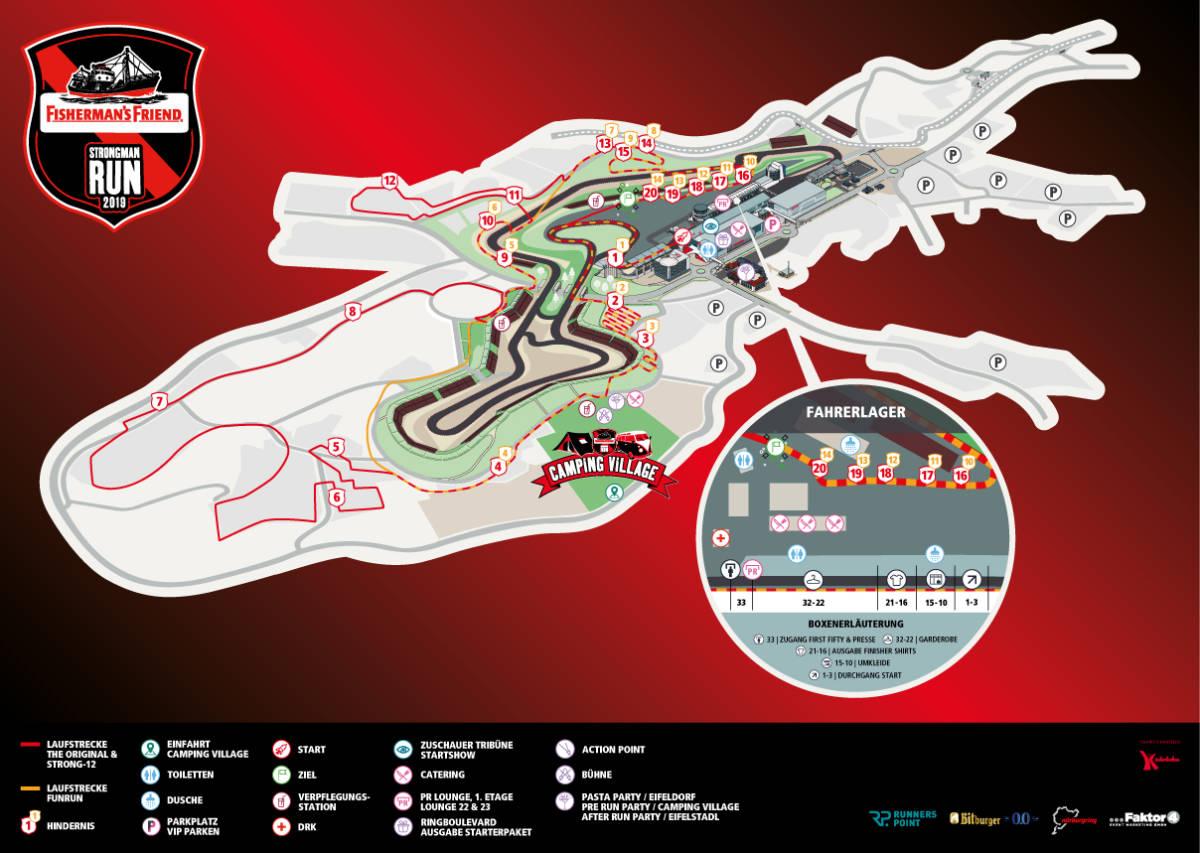 Streckenplan StrongmanRun Nürburgring