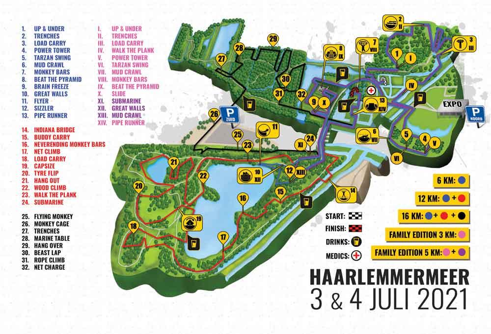 Streckenplan Mud Masters Haarlemmermeer 2021